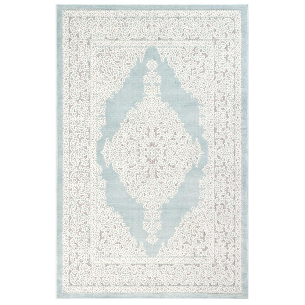 Liora Manne 7044/04 Rialto Kermin Indoor/Outdoor Rug in Blue 3 ft. 3 in. X 4 ft. 9 in.