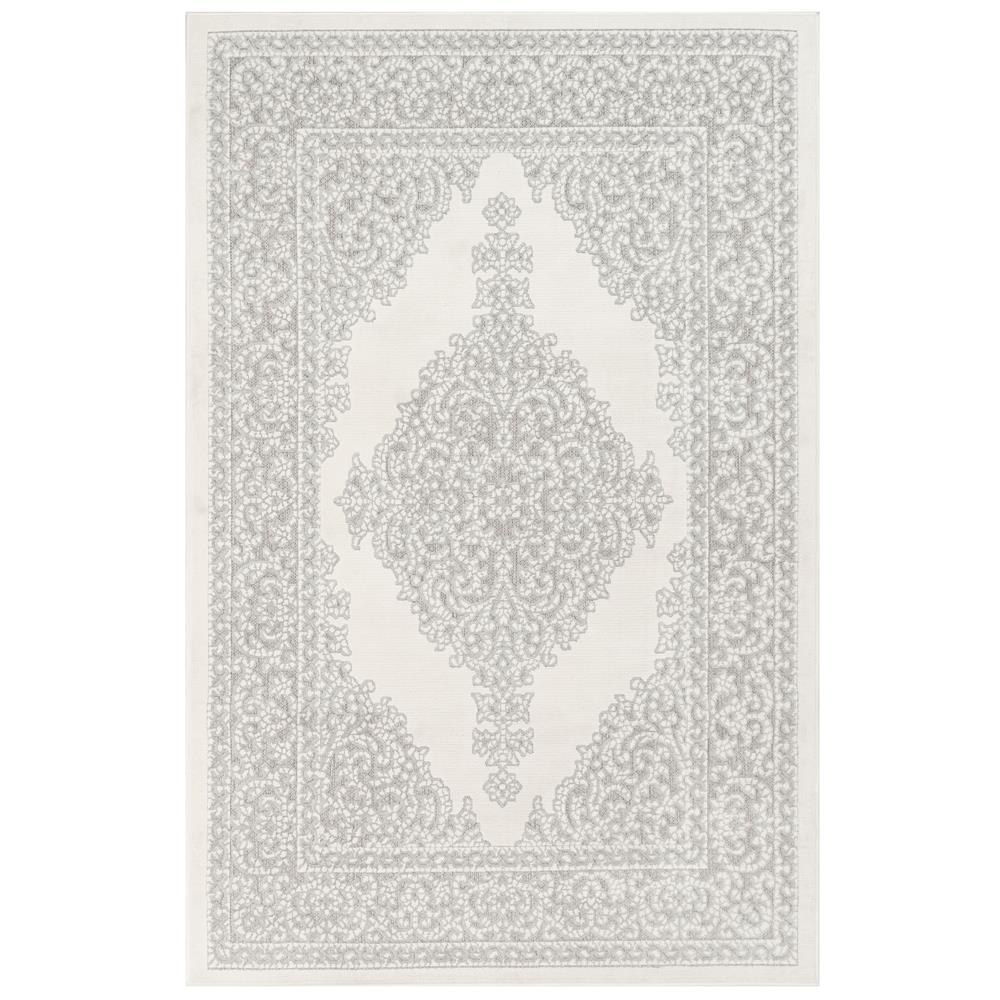Liora Manne 7044/12 Rialto Kermin Indoor/Outdoor Rug in Ivory 3 ft. 3 in. X 4 ft. 9 in.