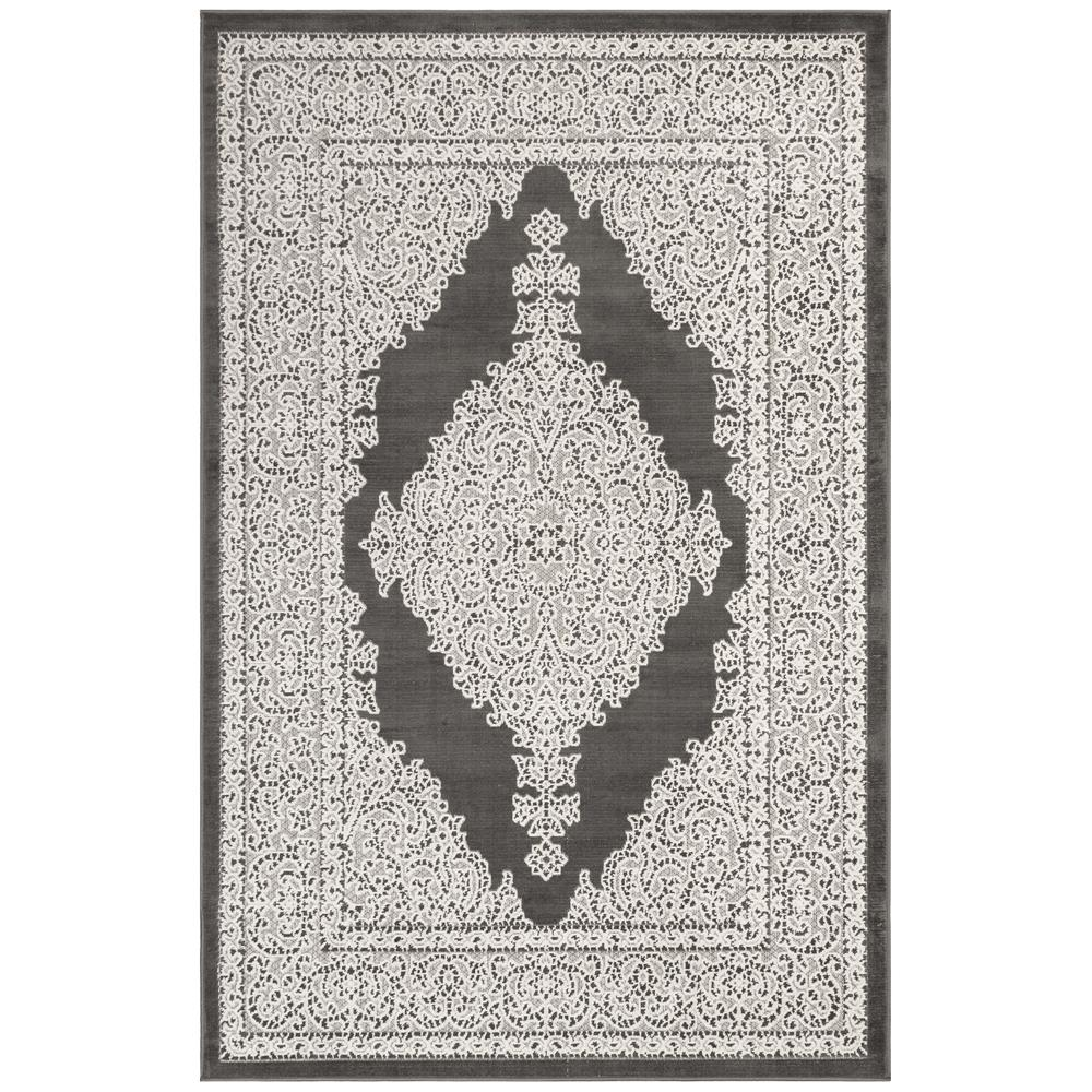 Liora Manne 7044/47 Rialto Kermin Indoor/Outdoor Rug in Grey 3 ft. 3 in. X 4 ft. 9 in.