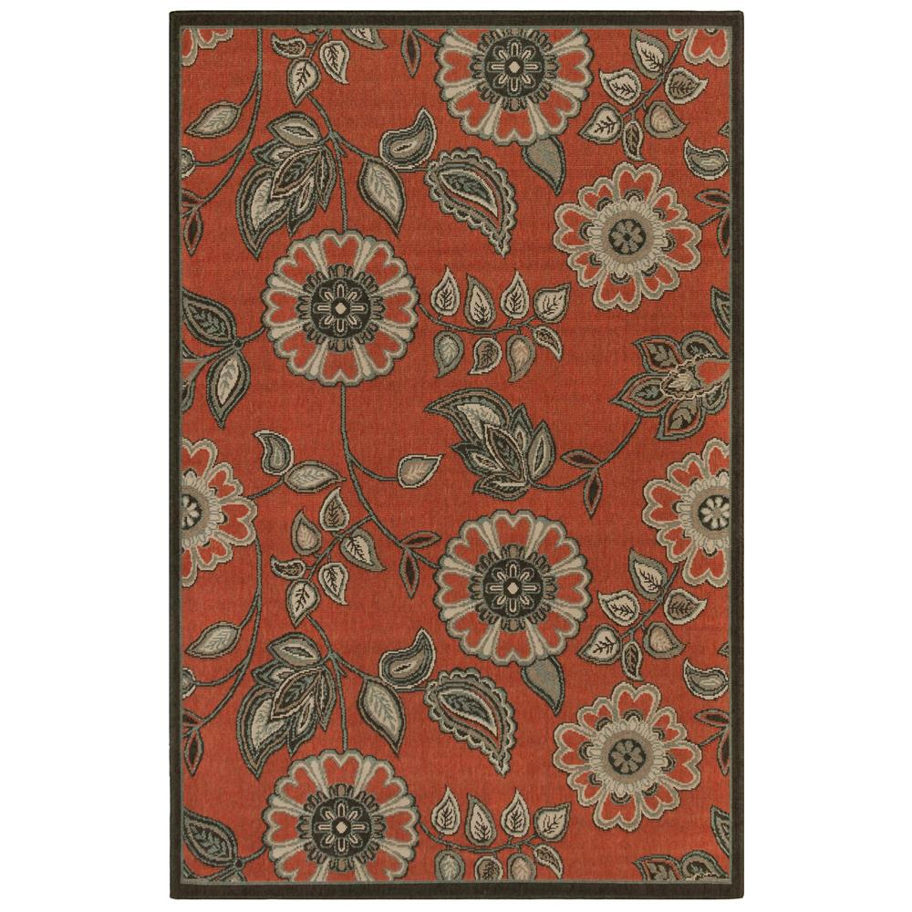 "Liora Manne 7630/24 Riviera Floral Vine Indoor/Outdoor Rug Red 39""X59"""
