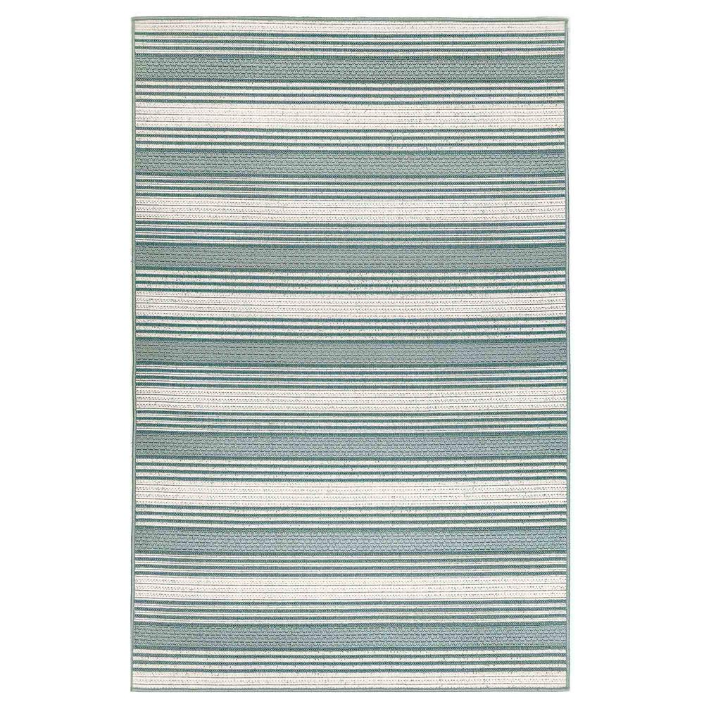 "Liora Manne 7640/06 Riviera Stripe Indoor/Outdoor Rug Cool 39""X59"""