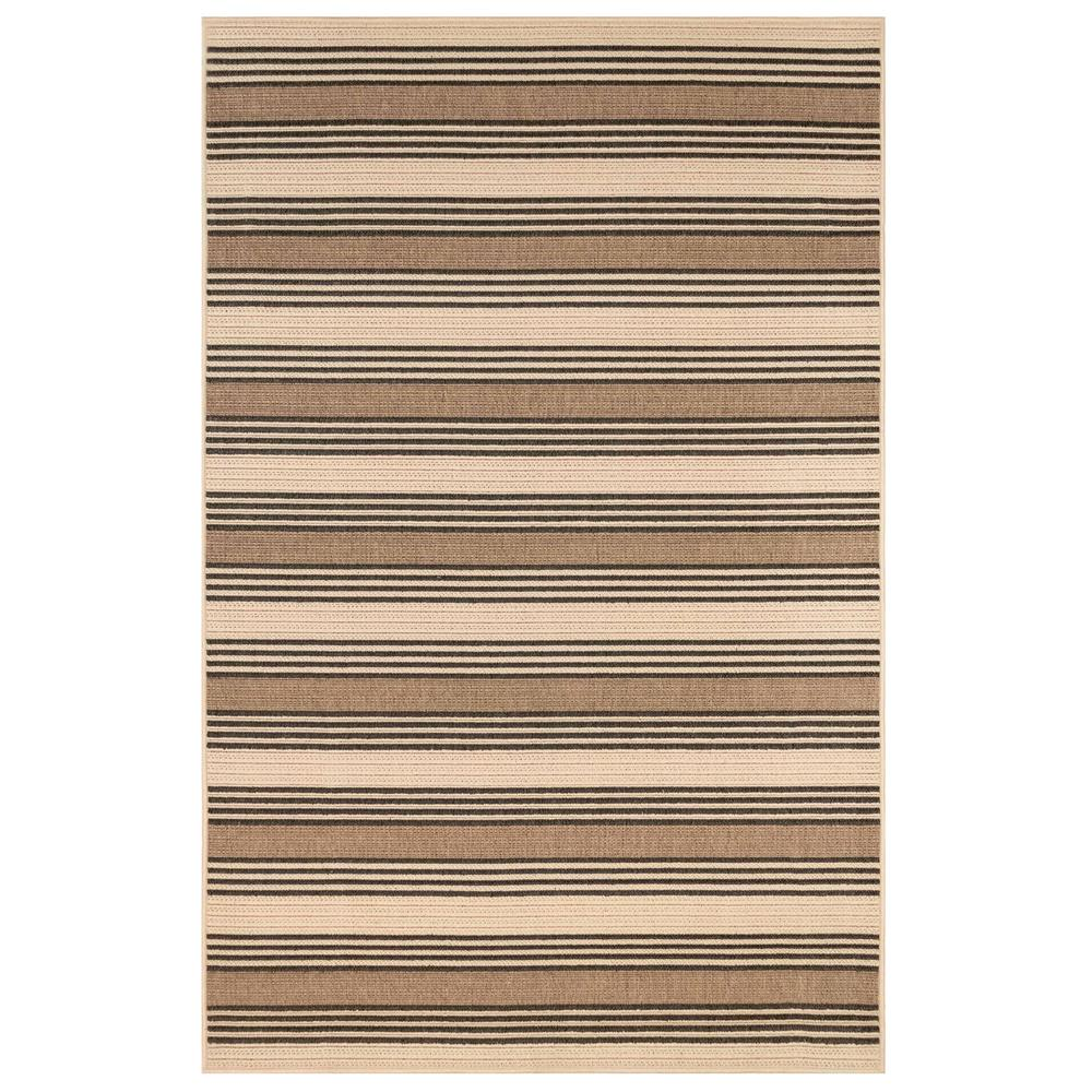 "Liora Manne 7640/12 Riviera Stripe Indoor/Outdoor Rug Tan 39""X59"""