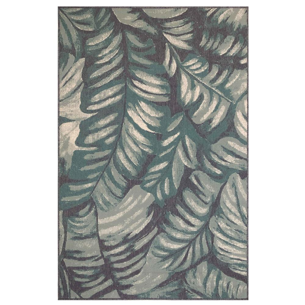"Liora Manne 7650/04 Riviera Palm Indoor/Outdoor Rug Teal 39""X59"""