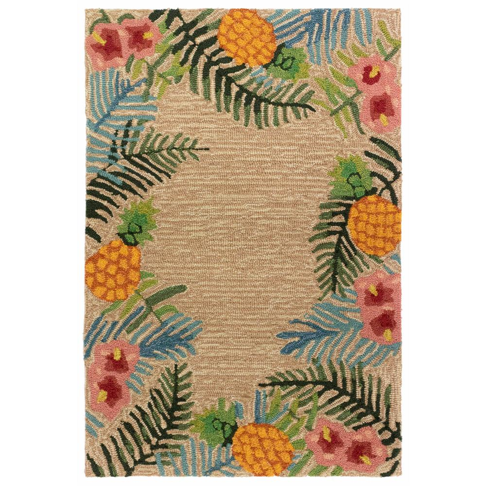 "Liora Manne 2280/12 Ravella Tropical Indoor/Outdoor Rug Neutral 24""X36"""