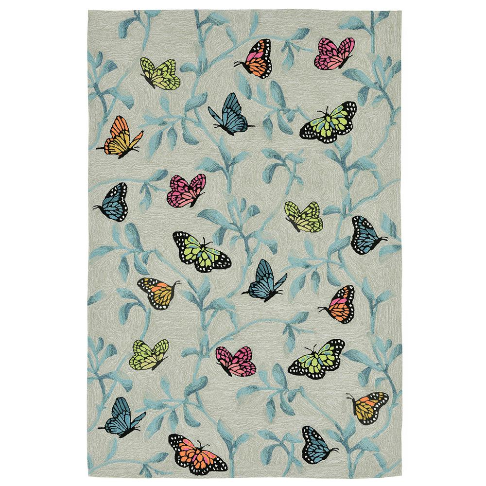Liora Manne RVL23227406 Ravella Butterflies On Tree Mi Indoor/Outdoor Rug