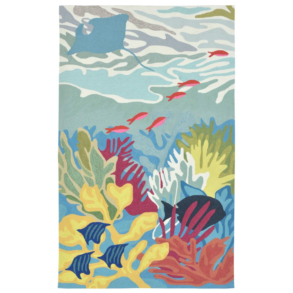 Liora Manne RVL23227503 Ravella Ocean View Blue Indoor/Outdoor Rug