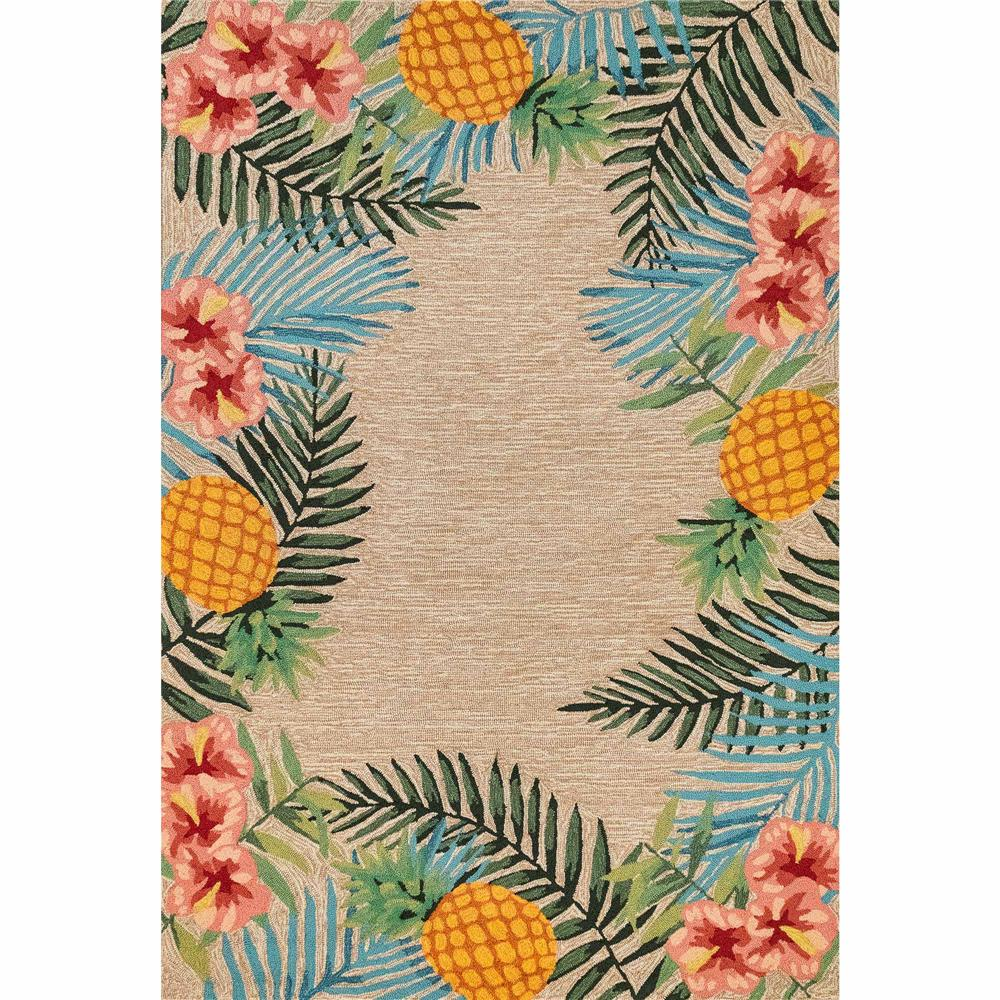 Rvl57228012 Liora Manne 2280 12 Ravella Tropical Indoor Outdoor Rug Neutral 5 X7 6 Goingrugs
