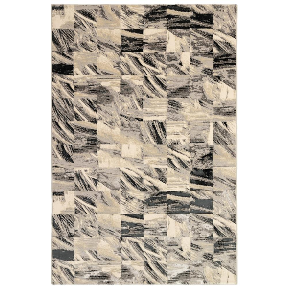 Liora Manne 8587/47 Taos Squares Indoor Rug in Grey 3 ft. 2 in. X 4 ft. 9 in.