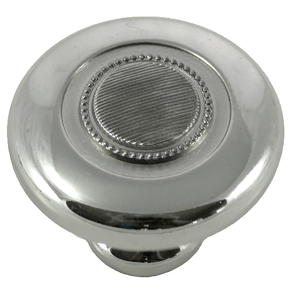 "MNG Hardware 16814 1 1/2"" Vanilla Botton Knob - Polished Nickel"
