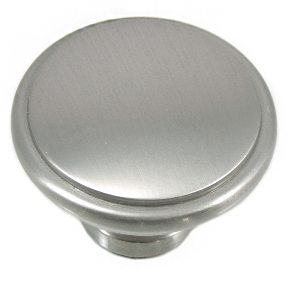 "MNG Hardware 83128 1 1/4"" Knob - Grace - Satin Nickel"