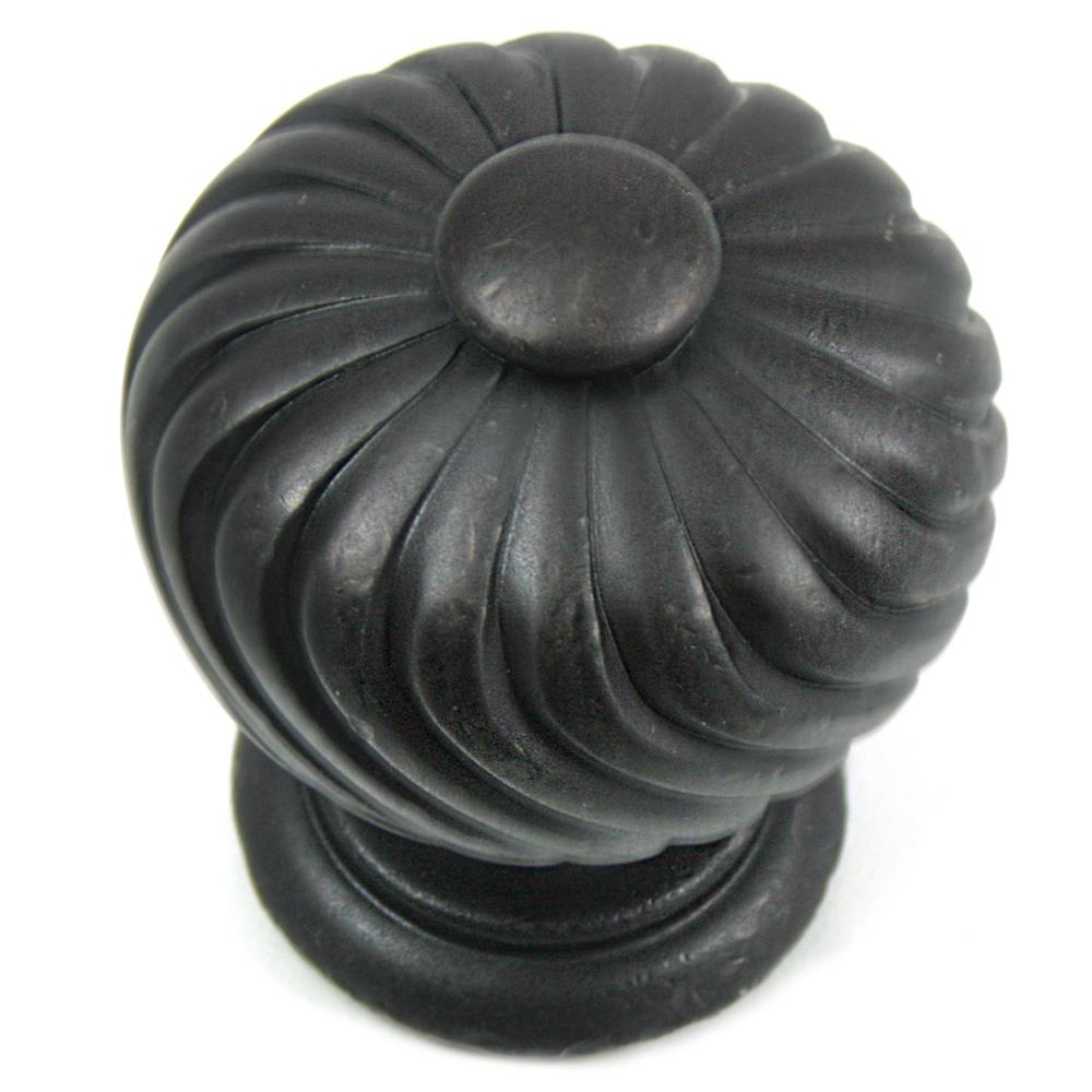 "MNG Hardware 83913 1 1/4"" Knob - French Twist - Oil Rubbed Bronze Nickel"
