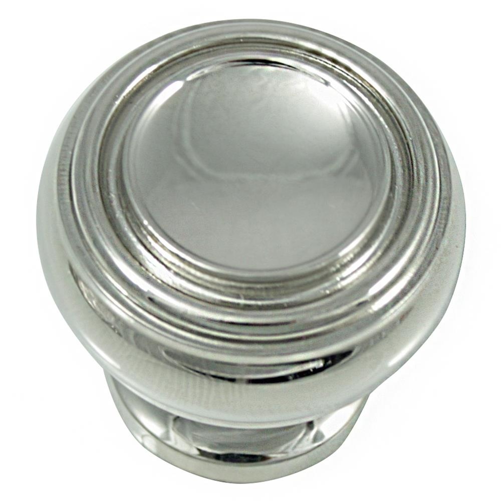 "MNG Hardware 85014 1 1/4"" Knob - Balance - Polished Nickel"
