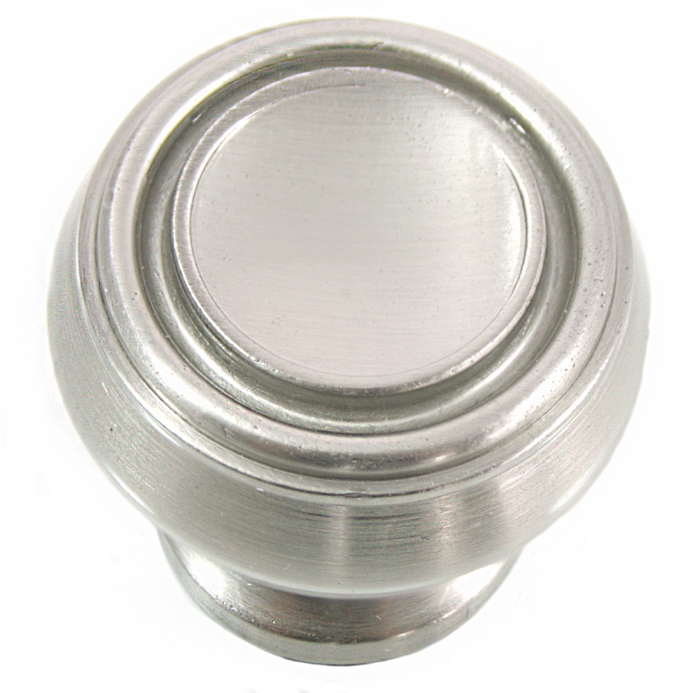 "MNG Hardware 85028 1 1/4"" Knob - Balance - Satin Nickel"