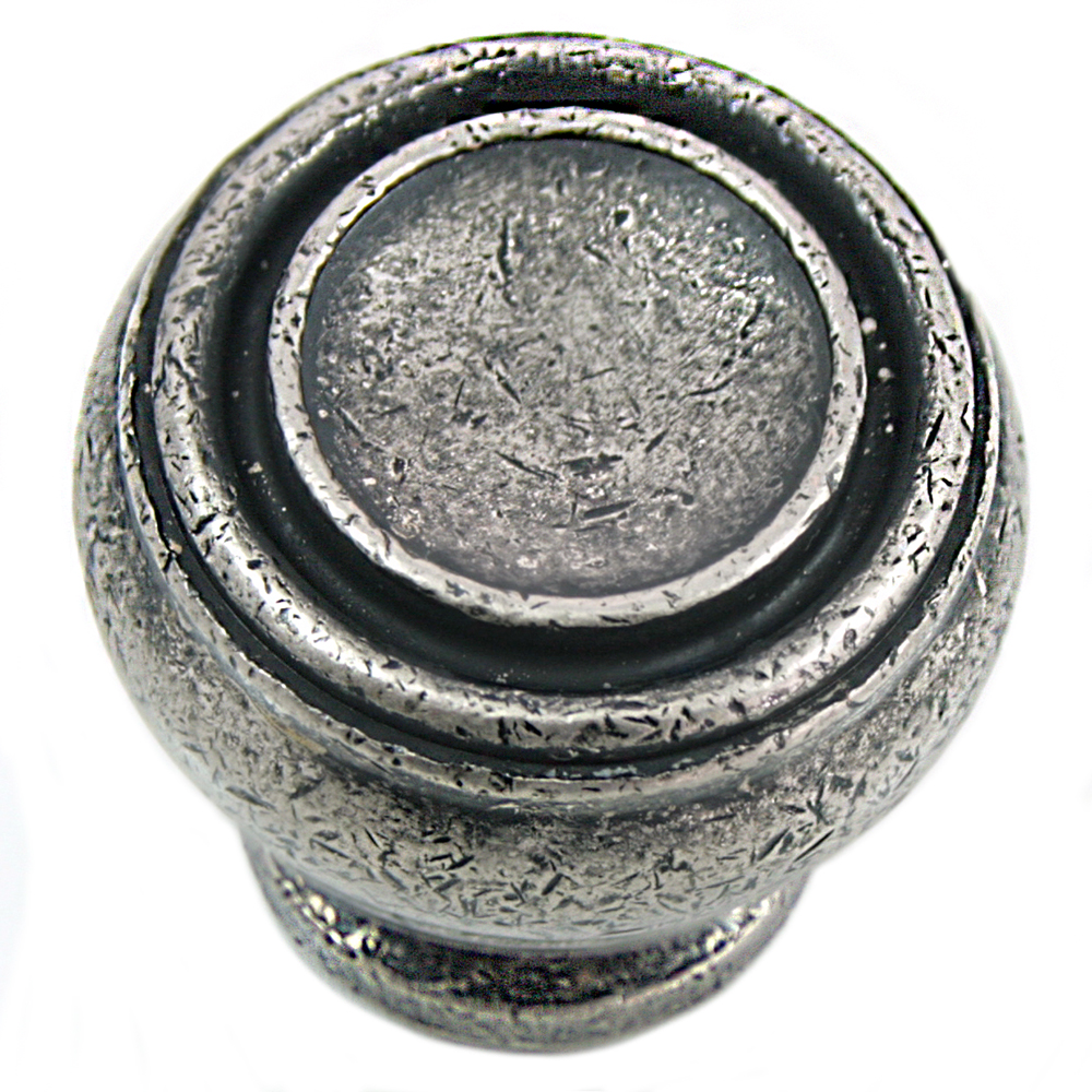 "MNG Hardware 85064 1 1/4"" Knob - Balance - Distressed Pewter"