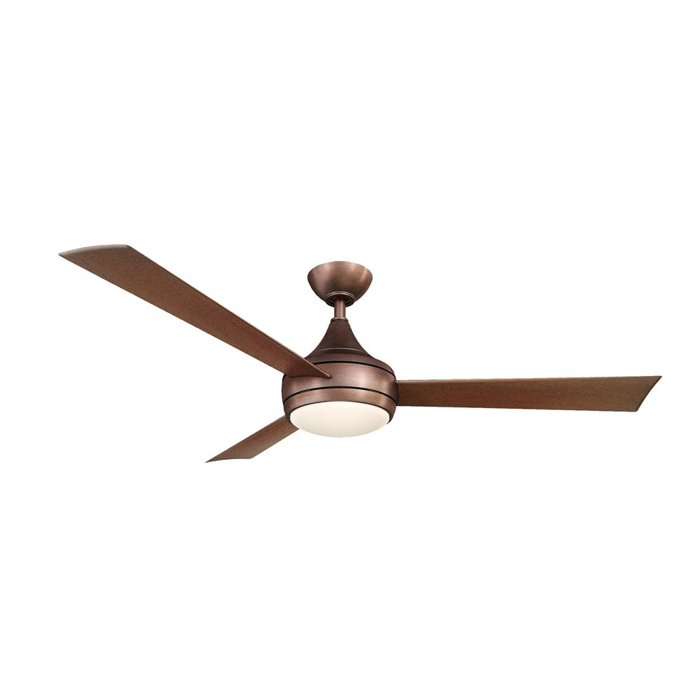 Atlas DA-BB Donaire Ceiling Fan in Textured Bronze with Brushed Bronze blades