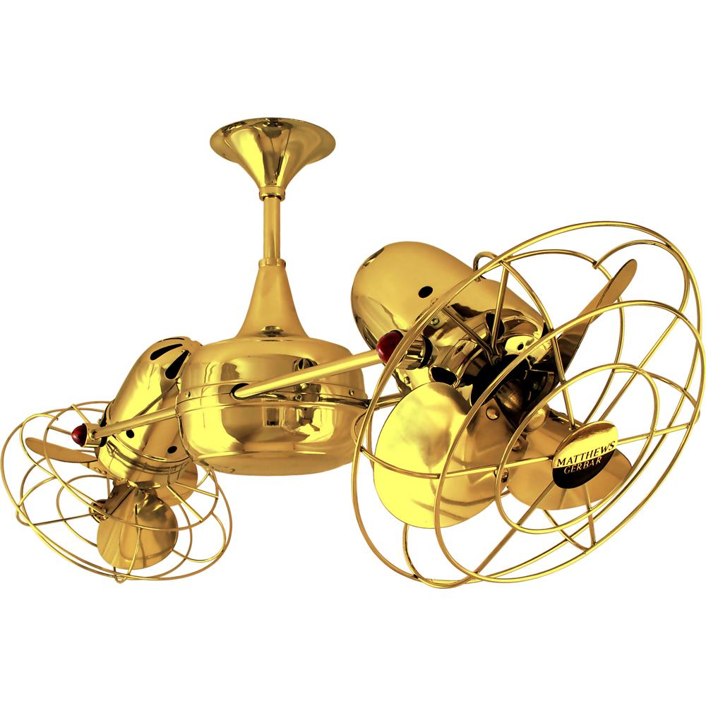 Matthews-Gerbar DD-GOLD-MTL Duplo-Dinamico Ceiling Fan in Gold with Ouro blades