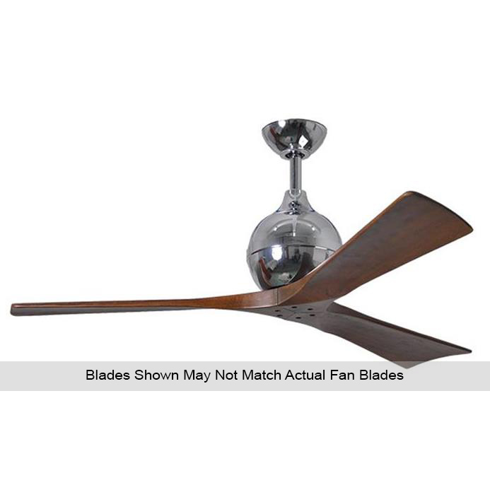 Atlas IR3-CR-BW-42 Irene Ceiling Fan in Polished Chrome with Barnwood Tone blades