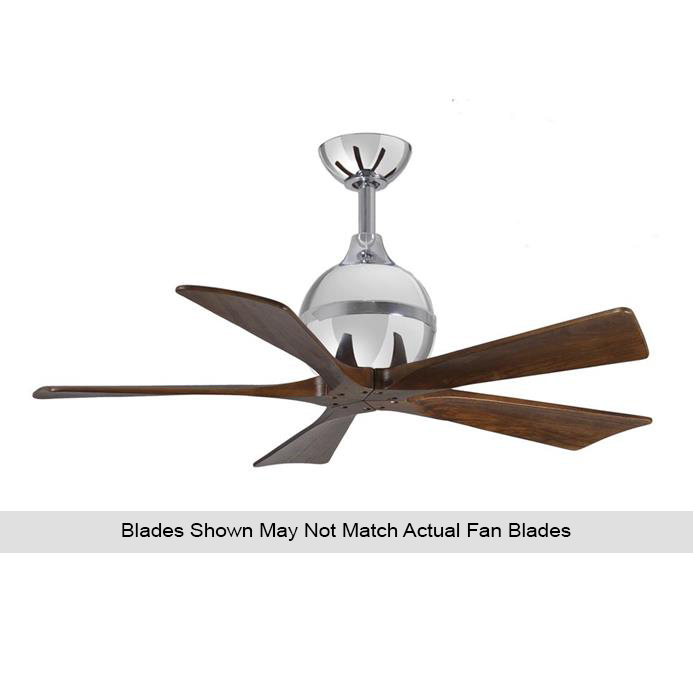 Atlas IR5-CR-BW-42 Irene Ceiling Fan in Polished Chrome with Barnwood Tone blades
