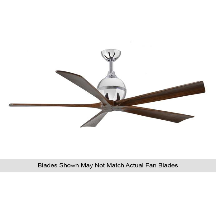 Atlas IR5-CR-BW-60 Irene Ceiling Fan in Polished Chrome with Barnwood Tone blades