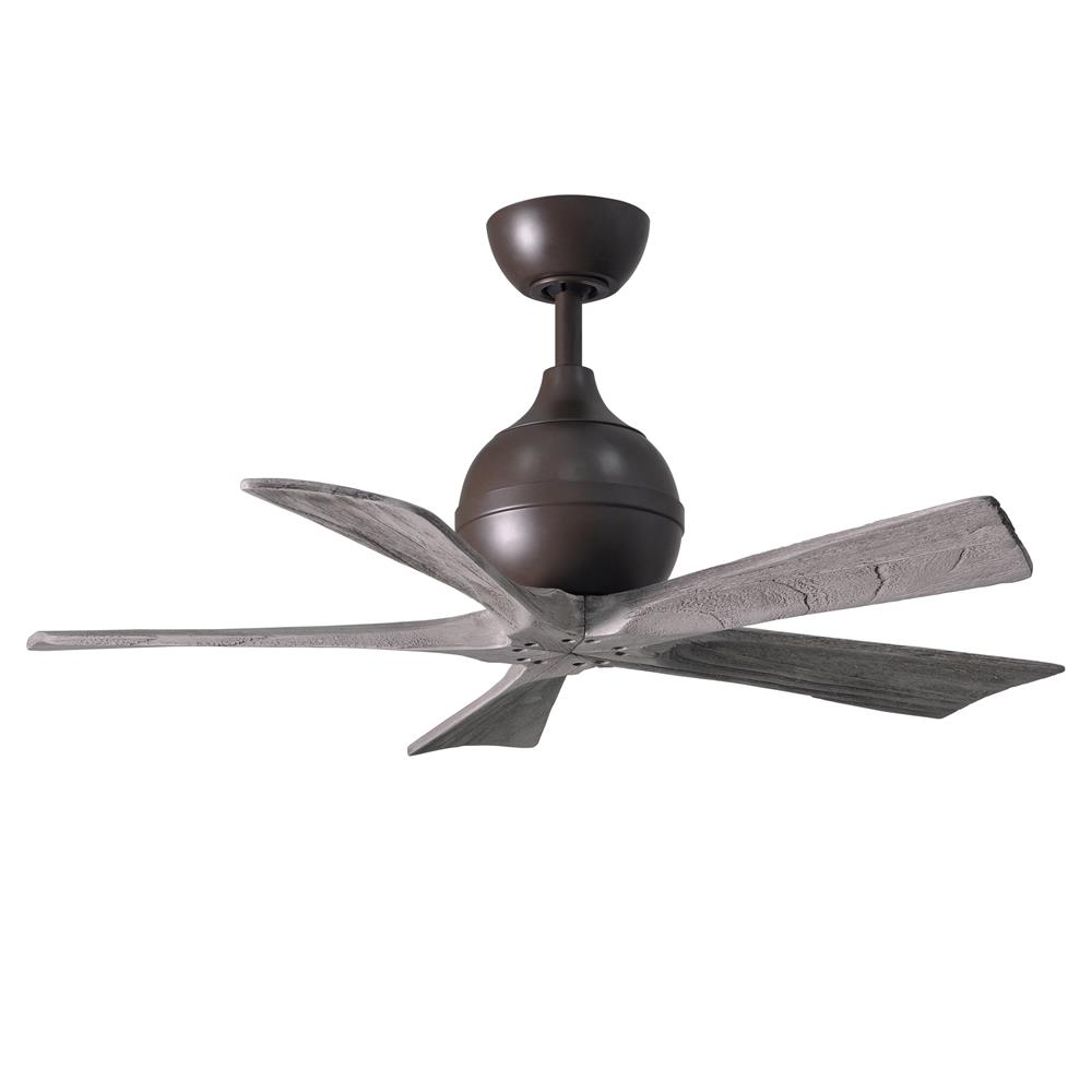 Atlas IR5-TB-BW-42 Irene Ceiling Fan in Textured Bronze with Barnwood Tone blades