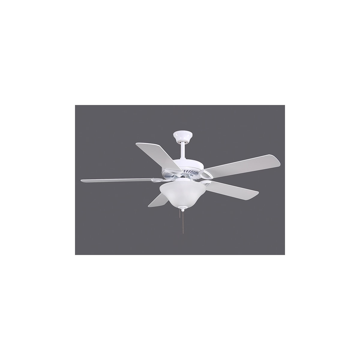 Atlas AM-USA-WH-LK2x13-42 America Ceiling Fan in Gloss White with Reversible White/Wood Tone blades