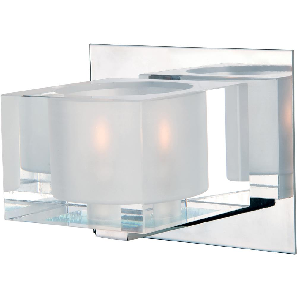 Maxim Lighting 10001CLPC Cubic 1-Light Bath Vanity in Polished Chrome