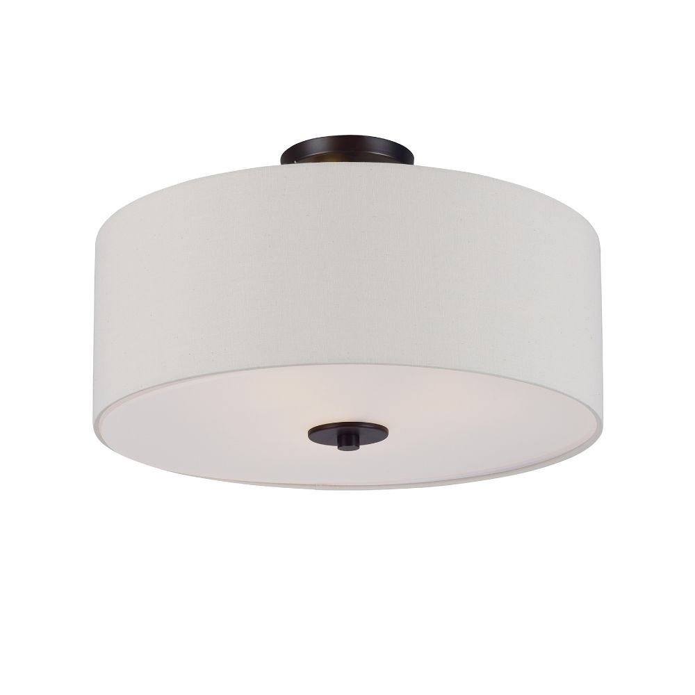 Maxim Lighting 10014OMOI Bongo 3-Light Pendant / Semi-Flush Mount in Oil Rubbed Bronze