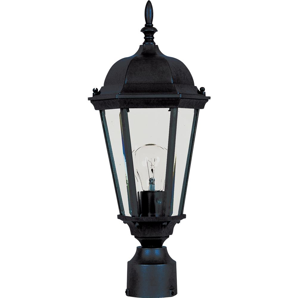 Maxim Lighting 1001BK Westlake Cast 1-Light Outdoor Pole/Post Lantern in Black
