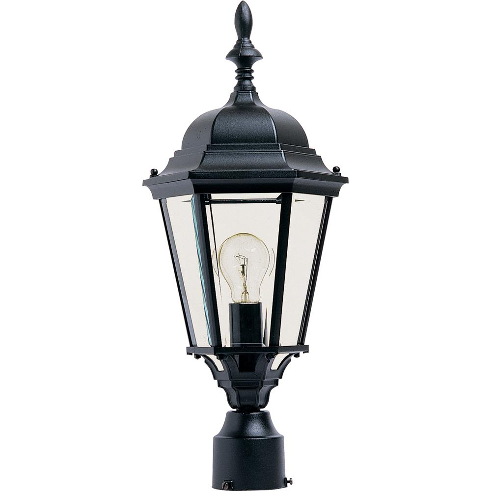 Maxim Lighting 1005BK Westlake Cast 1-Light Outdoor Pole/Post Lantern in Black