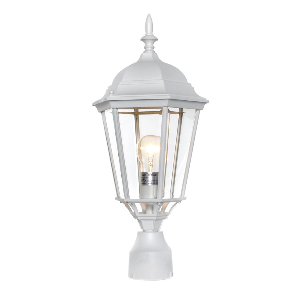 Maxim Lighting 1005WT Westlake Cast 1-Light Outdoor Pole/Post Lantern in White