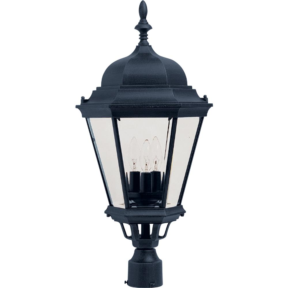 Maxim Lighting 1007BK Westlake Cast 3-Light Outdoor Pole/Post Lantern in Black