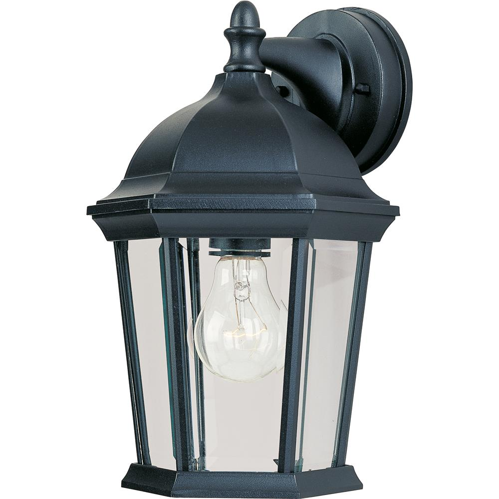 Maxim Lighting 1024BK Builder Cast 1-Light Outdoor Wall Lantern in Black