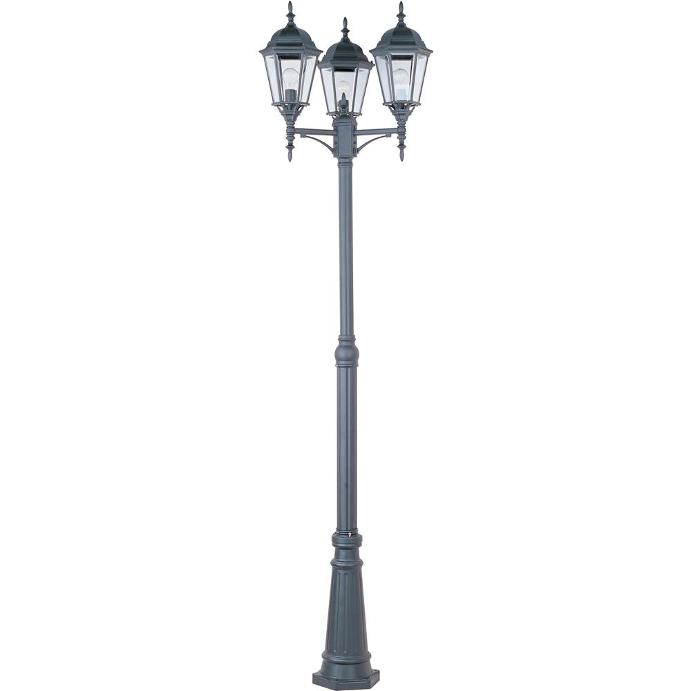 Maxim Lighting 1105BK 3-Light Outdoor Pole/Post Lantern in Black