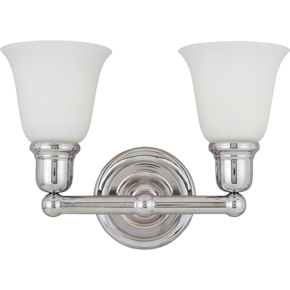 Maxim Lighting 11087WTPC Bel Air 2-Light Bath Vanity in Polished Chrome