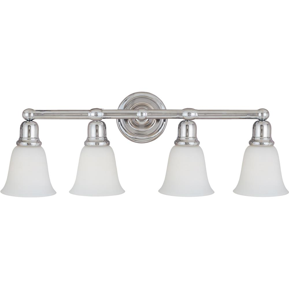 Maxim Lighting 11089WTPC Bel Air 4-Light Bath Vanity in Polished Chrome
