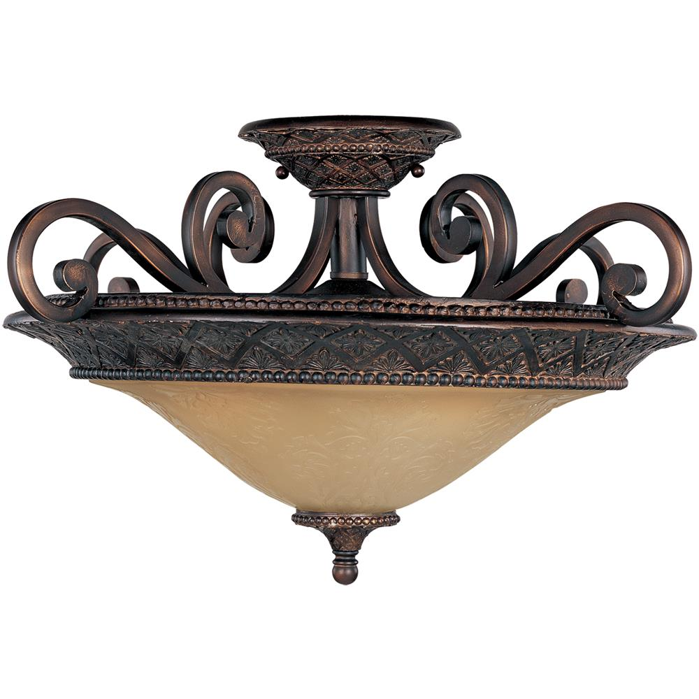 Maxim Lighting 11241SAOI Symphony 3-Light Semi-Flush Mount in Oil Rubbed Bronze