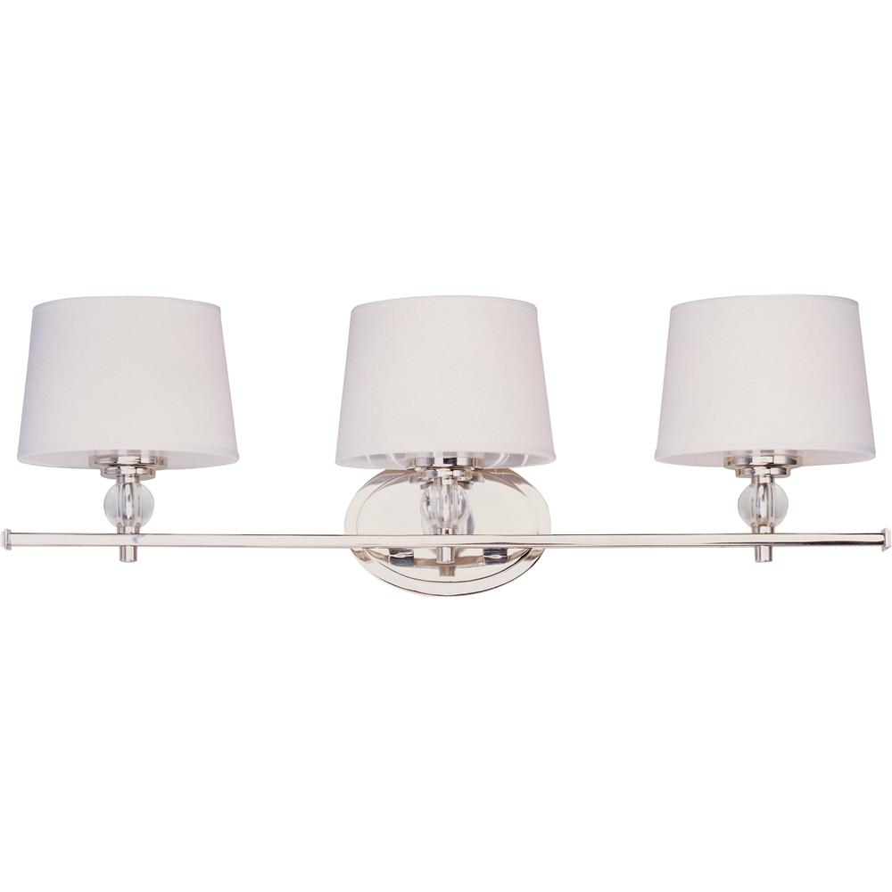 Maxim Lighting 12763WTPN Rondo 3-Light Bath Vanity in Polished Nickel