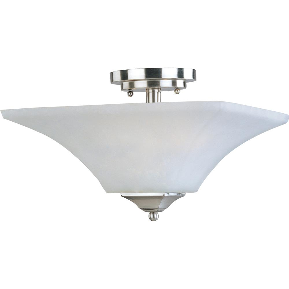Maxim Lighting 20091FTSN Aurora 2-Light Semi-Flush Mount