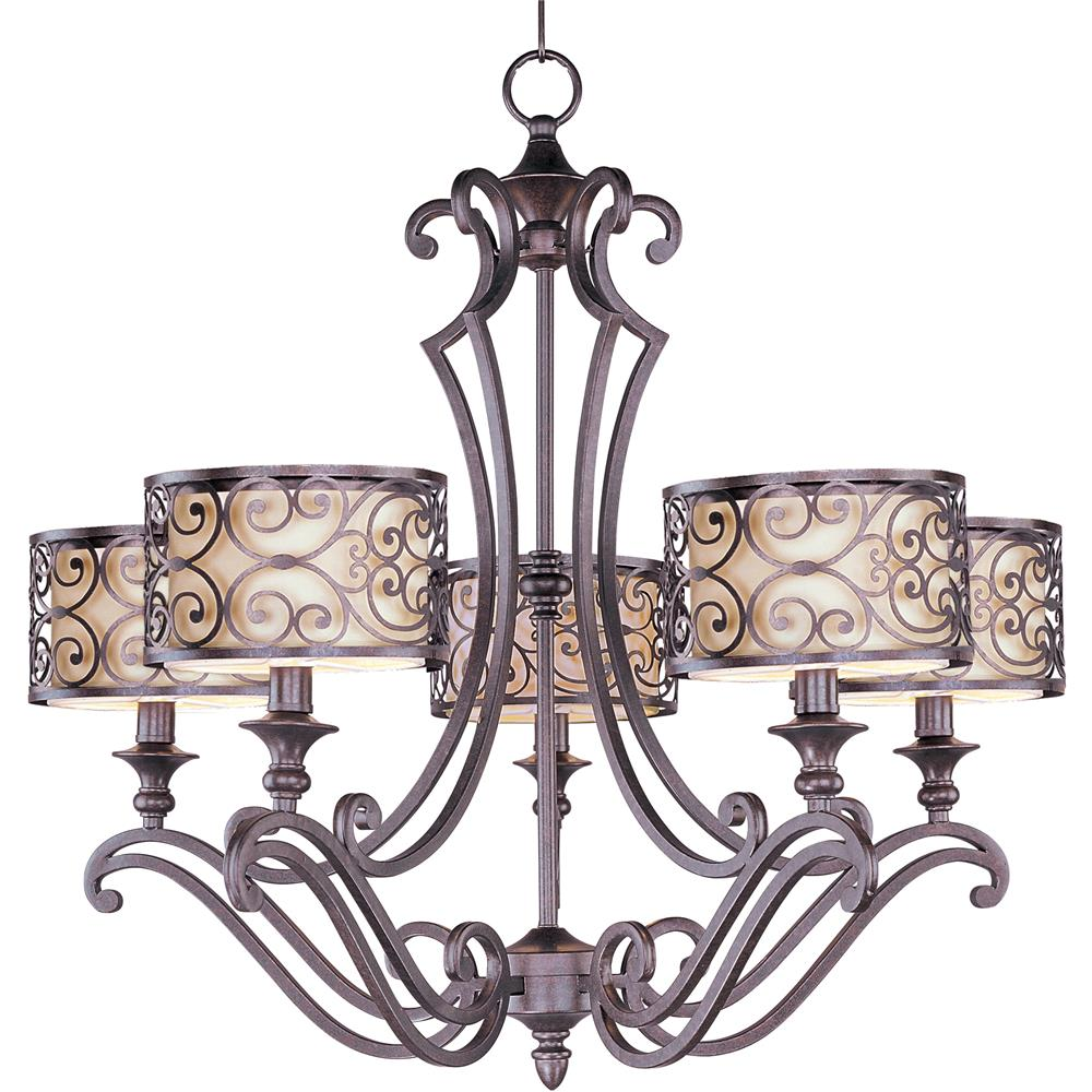 Maxim Lighting 21155WHUB Mondrian 5-Light Chandelier