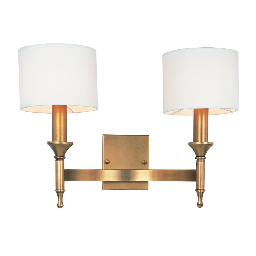 Maxim Lighting 22379OMNAB Fairmont 2-Light Wall Sconce in Natural Aged Brass