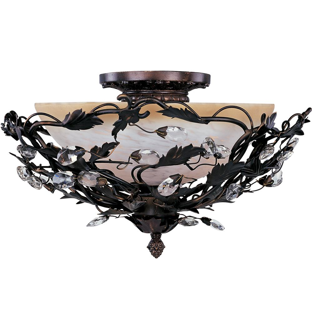 Maxim Lighting 2859OI Elegante 3-Light Semi-Flush Mount in Oil Rubbed Bronze