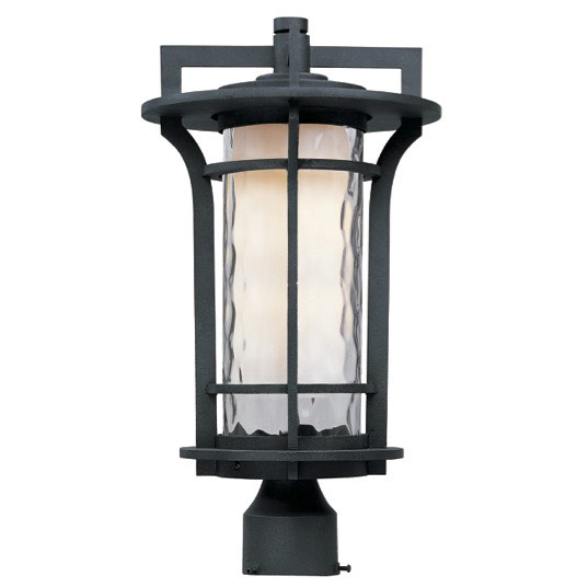 Maxim Lighting 30480WGBO Oakville 1-Light Outdoor Pole/Post Lantern in Black Oxide