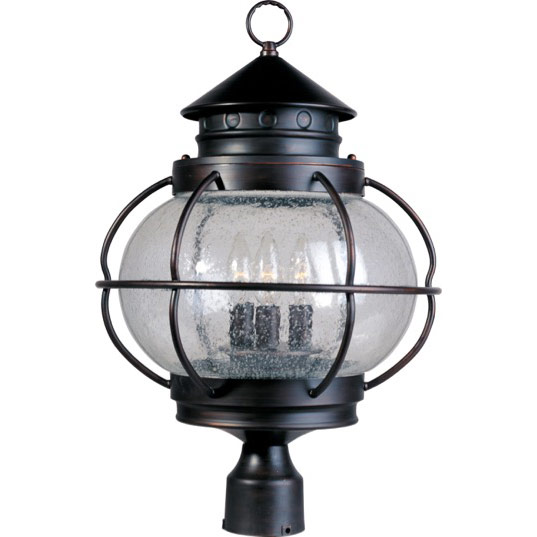Maxim Lighting 30501CDOI Portsmouth 3-Light Outdoor Pole/Post Lantern