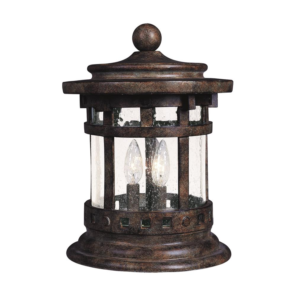 Maxim Lighting 3132CDSE Santa Barbara Cast 3-Light Outdoor Deck Lantern in Sienna