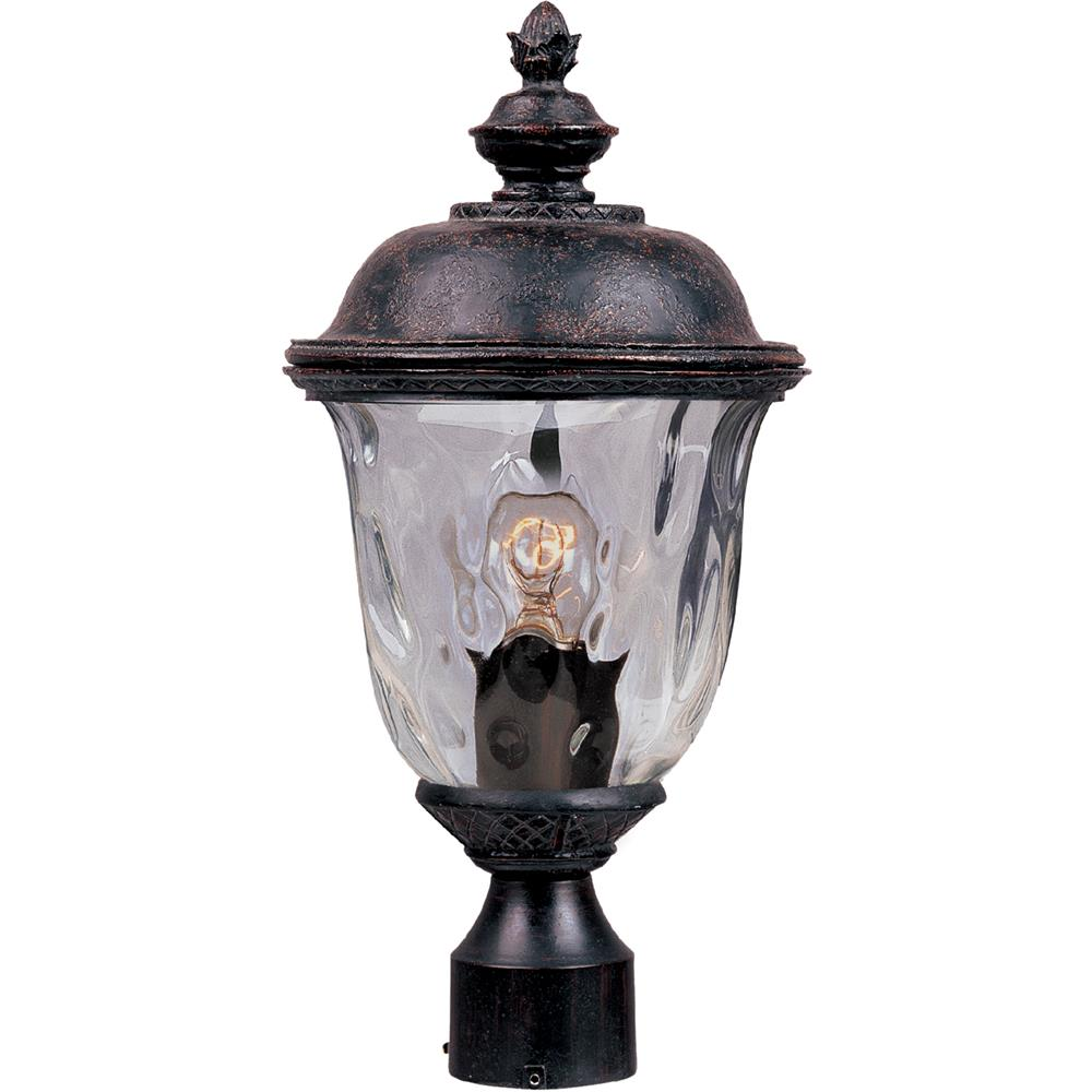 Maxim Lighting 3426WGOB Carriage House DC 1-LT Outdoor Pole/Post Lantern in Oriental Bronze