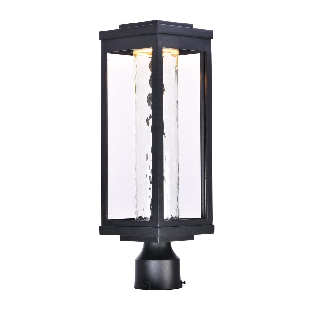 Maxim Lighting 55900WGBK Salon LED 1-Light Outdoor Post in Black