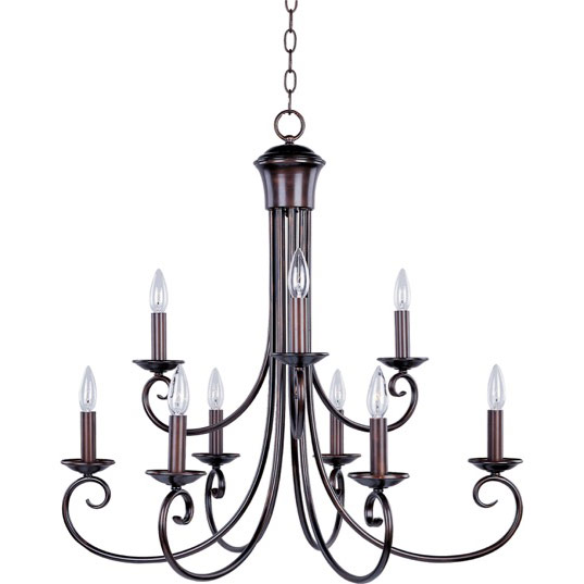 Maxim Lighting 70006OI Loft 9-Light Chandelier