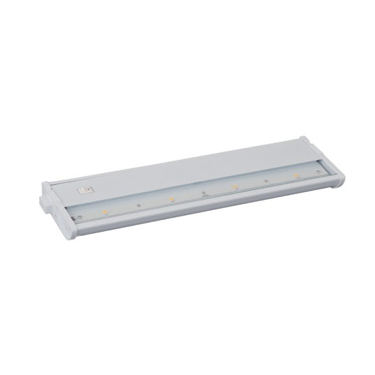 "Maxim Lighting 89913WT CounterMax MX-L120DC 13"" 3000K 4-LED Under Cabinet in White"