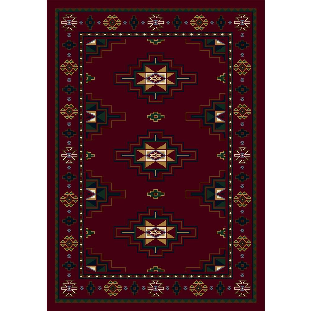 Milliken Signature Prairie Star Rug in Garnet-10.9x13.2 Rectangle