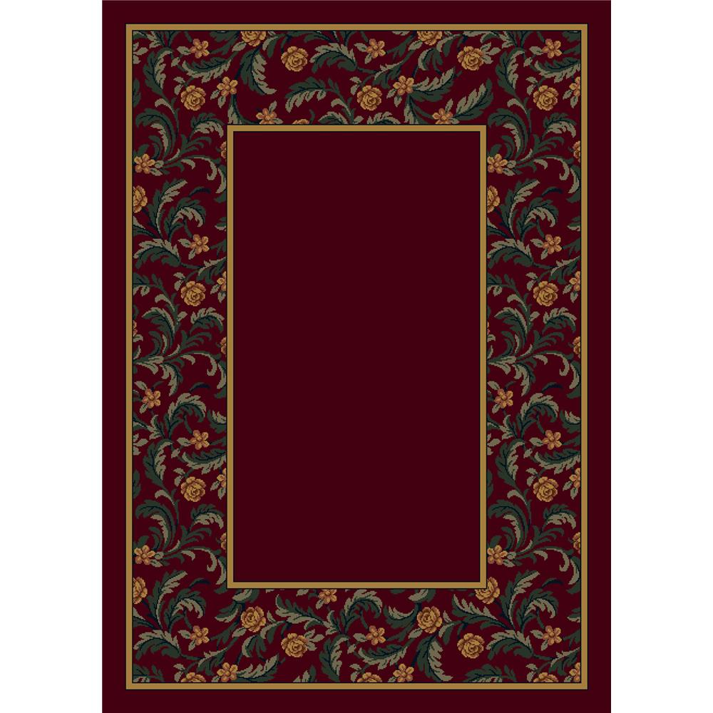 Milliken Design Center Latin Rose Rug in Garnet II-3.10x5.4 Rectangle